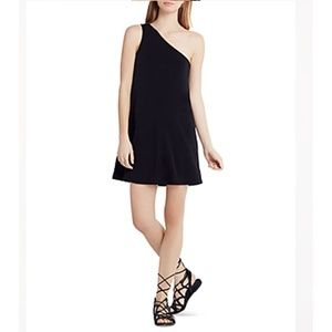 BCBGeneration Small Deep Black One Shoulder Dress